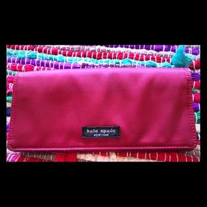 Vintage Kate Spade canvas like cloth wallet